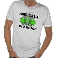 Lymphoma Fight Like a Warrior Tee Shirts by www.cancerapparelgifts.com