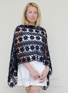 ❥ Dúzia de maneiras para vestir envoltório da Tatsiana em Crochê 2015 - / ❥ Dúzia of ways to wear wrap Tatyana Crochet 2015 -