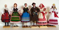 Folk Costume, Costumes, Polish Folk Art, Dollhouse Dolls, Traditional Dresses, Poland, Dollhouses, Pattern, Crafting