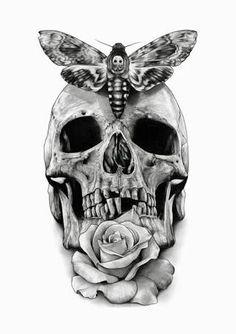 Resultado de imagem para skull tattoo