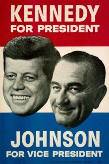 1948 Lyndon B Vintage Look Reproduction Johnson for US Senator Metal Sign