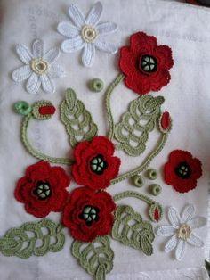 Crochet Poppy, Crochet Mandala, Freeform Crochet, Love Crochet, Crochet Motif, Irish Crochet, Crochet Designs, Crochet Flowers, Crochet Lace