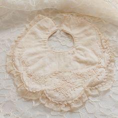ANTIQUE 1900s Baby Bib - Embroider Bavoir. $25.00, via Etsy.... exquisiteee