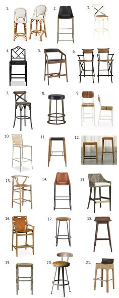 FAB FINDS: 21 FAVORITE COUNTER + BAR STOOLS - The other day I was pinning and noticed one thing all my favorite kitchens have in common. They all have standout counter + barstools! Which of course sparked today's Fab Finds. Counter stools are such an easy and affordable update to any kitchen. Below are some of my favorites (a little something for every budget). Now you can dine and entertain in style!
