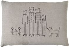 family pillow-centered