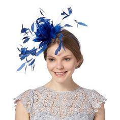 baffa2e7460 Star by Julien Macdonald Designer royal blue feather flower fascinator- at  Debenhams.com Royal