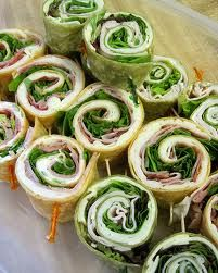Super easy to make, can do a pix of flour tortillas and flat bread ones with turkey and/or ham, spinach and cheese -cheap and easy, will need those long toothpicks though---pinwheel sandwiches