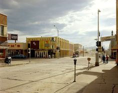 New Topographics: Street East And South Main Street, Kalispell, Montana by Stephen Shore Stephen Shore, History Of Photography, Color Photography, Street Photography, Landscape Photography, Rainbow Photography, Modern Photography, Photography Magazine, Night Photography
