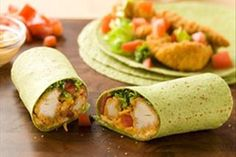 Bring the heat with these Buffalo Chicken Wraps. Creamy mayo and hot pepper sauce make our Buffalo Chicken Wraps with lettuce and tomato a three-alarm-feast.