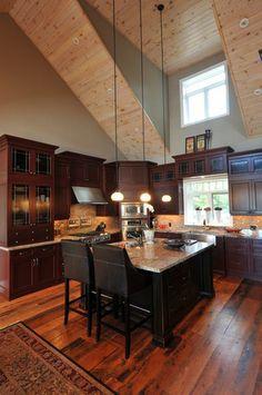 The Granite Gurus: FAQ Friday: What Granite Goes With Espresso Cabinets in a Rustic Kitchen?