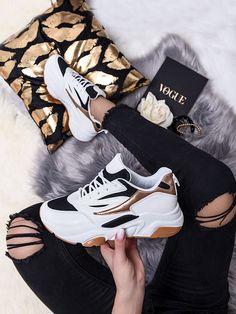 Dámske viacfarebné biele tenisky SX001-90BC Sport, Sneakers, How To Make, Tennis Sneakers, Deporte, Slippers, Sports, Sneaker, Women's Sneakers