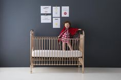 Ellie Crib - Project Nursery Best Baby Cribs, Best Crib, Nursery Furniture, Nursery Decor, Gold Nursery, Nursery Ideas, Room Ideas, Contemporary Cribs, Crib Sets