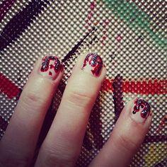 I bleed glitter #nail #art #zombie #monsterhigh