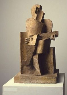 Seated man with a guitar 1921 Jacques Lipchitz (1891 - 1973)