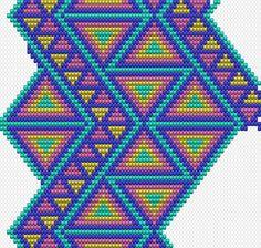 Crochet pattern for Wayuu Mochila. Crochet Shell Stitch, Crochet Chart, Bead Crochet, Crochet Stitches, Tapestry Crochet Patterns, Weaving Patterns, Mochila Crochet, Tapestry Bag, Crochet Purses