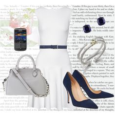 """""""Anastasia Steele's Outfit for Drinks with Kate at the Zig Zag Cafe"""" by bigbadbrookie on Polyvore"""