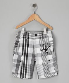 Take a look at this Black Plaid Shorts by Hurley Boys on #zulily today!