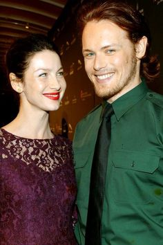 caitriona balfe and sam heughan, outlander premiere