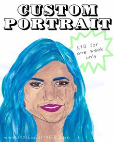 Custom Portrait Illustration  One Week Only by PIXIEandPIXIER.etsy.com