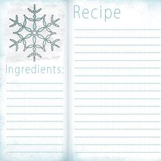 Free Recipe Card Templates    Recipe Cards  Free Printable  X