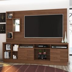 Estante para TV e Home Theater Heitor Madetec Castanho