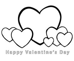 Free printable valentine heart balloons coloring pages for kids