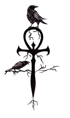 ankh   ... friend of mine asked me to add the crows on the basic ankh ( tattoo