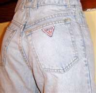 In the mid-80's - if you didn't have a pair of Guess jeans don't even bother showing up to the skating ring