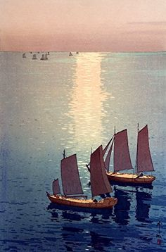 "Japanese Art Print ""The Sparkling Sea"" by Yoshida Hiroshi. Shin Hanga and Art Reproductions http://www.amazon.com/dp/B00VCFPOBM/ref=cm_sw_r_pi_dp_udVuwb1RZ6EQC"