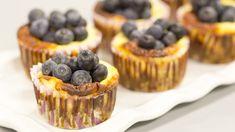 Čučoriedkové minicheesecakes