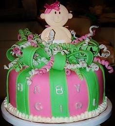 Baby Girl Shower Cake #CakesbyLauren