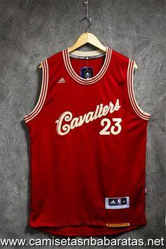 camisetas Xmas 2015-16 Cleveland Cavaliers rojo #23 James €21.99