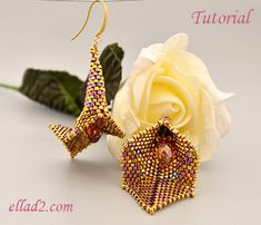 Tutorial Lilly Earrings by Ellad2 on Etsy
