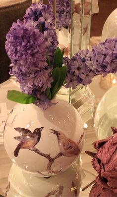 Small Aviary Vase with a Lilac bouquet
