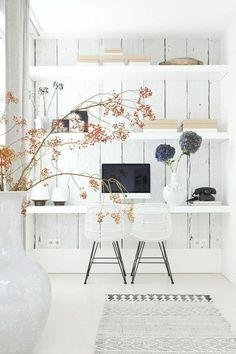 étagère murale de style élégant,deco blanc, mur en bois blanc, etagere murale en bois