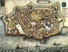 Blaeu Atlas: Harderwijk ca 1662, Netherlands.