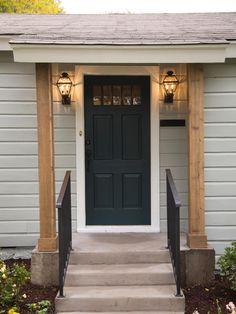 Wooden Front Door Pillars