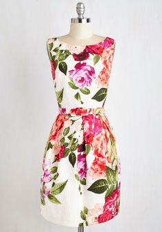Enthrall of My Love Dress - Daytime Party, Multi, Pink, Floral, Print, Pockets, Belted, Graduation, A-line, Sleeveless, Spring, Better, Pleats
