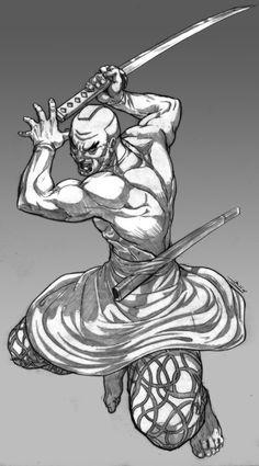 dynamic pose swordsman - Google Search