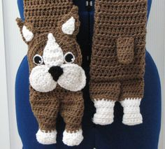 Cafe Latte Ready To Ship Boston Terrier by DonnasCrochetDesigns, $45.00