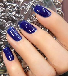 Dark blue is more of a mysterious color. Watch out for that person with the dark blue on her fingers!