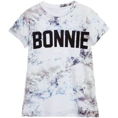 Little Eleven Paris Unisex White 'Bonnie' T-Shirt ($42) ❤ liked on Polyvore featuring shirts and blusas