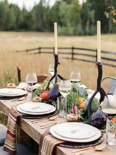 """Dining at the barn"" #table_settings #exterior_accents #outdoor_decor"