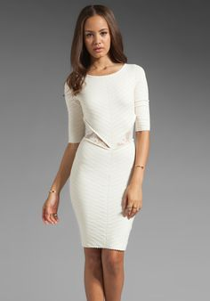 TORN BY RONNY KOBO Cynthia Knit Dress in Ivory