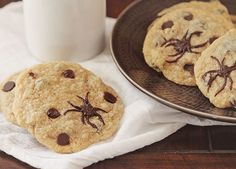 Chocolate Chip Spider Cookies!