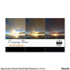 Spectacular Sunset Travel And Tourism Double-Sided Standard Business Cards (Pack Of 100)