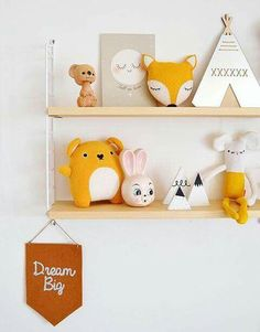 Lovely lovely stuff on this shelf by Baby Bedroom, Baby Boy Rooms, Nursery Room, Kids Bedroom, Baby Room Neutral, Nursery Neutral, Diy Inspiration, Baby Yellow, Baby Kind