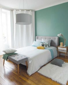 Turquoise Room Ideas - Well, how regarding a touch of turquoise in your room? Set your heart to see it due to the fact that this post will certainly give you turquoise room ideas. Table of Contents. Small Room Bedroom, Dream Bedroom, Home Bedroom, Modern Bedroom, Bedroom Decor, Bedroom Ideas, Bedroom Green, Bedroom Inspiration, Unique Teen Bedrooms