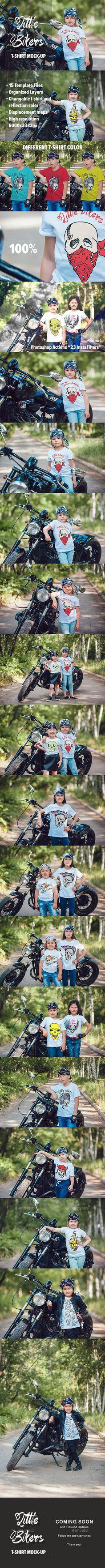 T-shirt design zeixs - Little Bikers T Shirt Mock Up