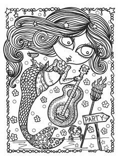 Mermaid Wonders: A Mindful Coloring Book for Adults: N/A, Deborah Muller: 9781631406447: Amazon.com: Books